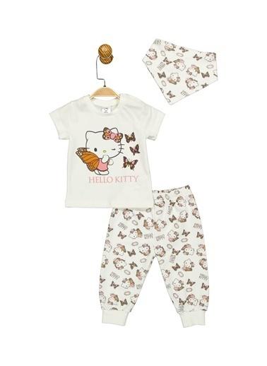 Hello Kitty Lisanslı Bebek 3'Lü Takım 17481 Ekru